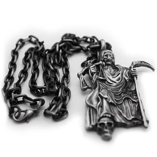 Santa muerte pewter necklace mozeypictures Images