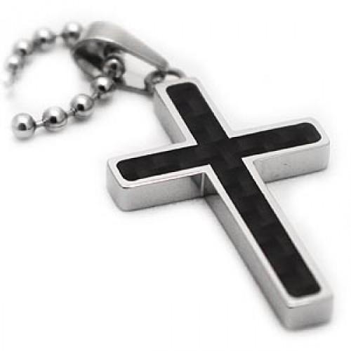 Carbon fiber contemporary titanium cross pendant mozeypictures Choice Image