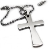 Cross necklaces simplicity titanium cross pendant aloadofball Images